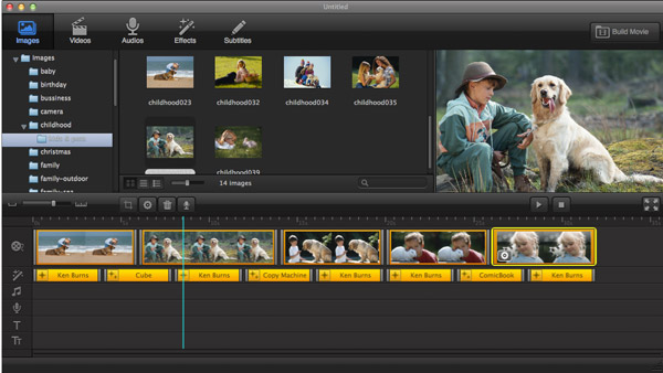Add photos & videos in best Video Editing Software for Mac