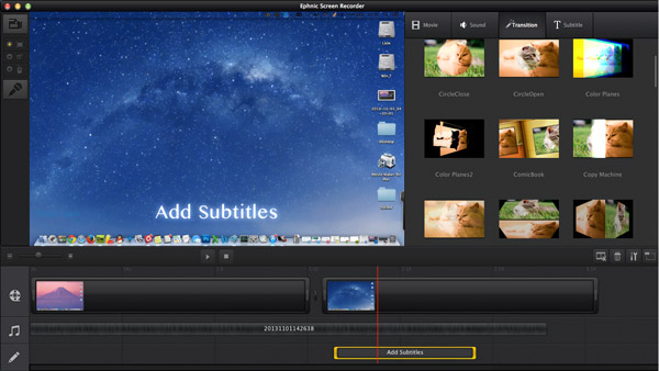 Add voice in Ephnic Screen Recorder for Mac