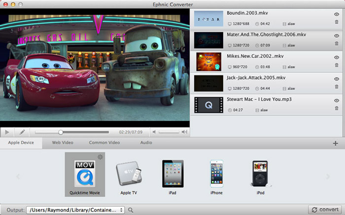 Add Videos in Ephnic Video Converter for Mac
