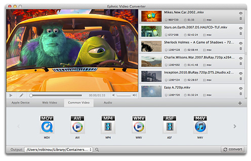 Ephnic Video Converter for Mac Feature